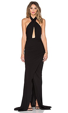 Jay Godfrey Geddy Gown in Black