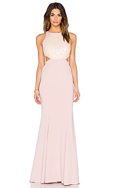 Jay Godfrey Hearst Dress in Blush & Blush