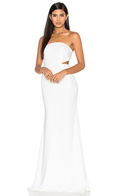 Jay Godfrey Scotty Gown in Light Ivory
