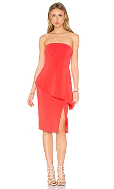 Jay Godfrey Ainge Dress in Coral Red