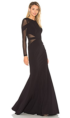 Carnegie Gown in Black & Black