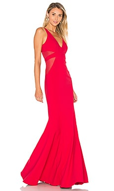 Rockefeller Gown in Deep Red & Deep Red