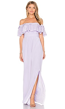 Stavro Maxi Dress in Dove Purple
