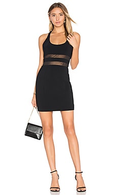 Perot Dress in Black & Black