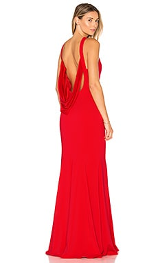 Armstrong Gown in Coral Red