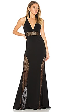 Tenor Gown in Black & Black