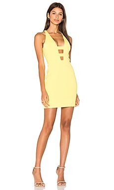 Loch Dress in Canary Yellow