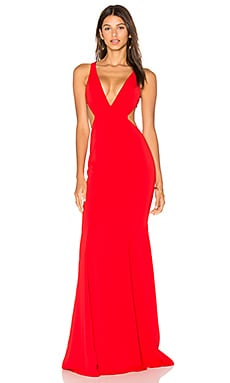 Douglas Gown in Bright Red