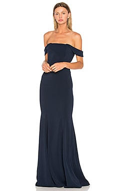 Biles Gown in Navy