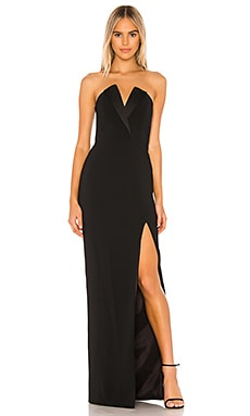 Sylvia Strapless Tux Gown Jay Godfrey $375