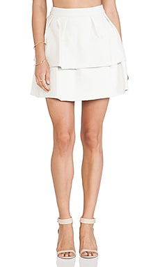 Jay Godfrey Downie Skirt in White