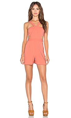 Jay Godfrey Santana Romper in Papaya