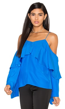Jay Godfrey Garcia Top in Bright Blue