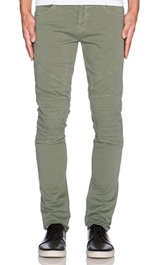 J Brand Moto in Military Green