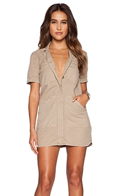J Brand Kona Utility Dress in Quicksand