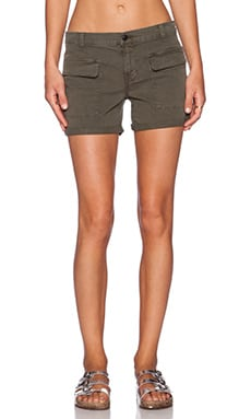 J Brand Kai Mid Rise Utility Short in Jungle