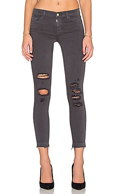J Brand Low Rise Skinny Crop in Demented Grey