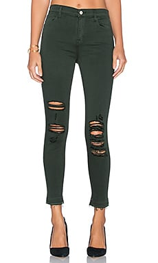 J Brand Alana High Rise Crop in Demented Evergreen