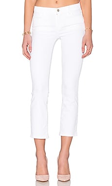 Selena Mid Rise Crop Boot in Blanc