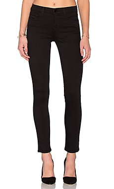 J Brand Mid Rise Skinny in Seriously Black