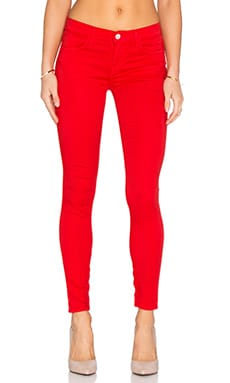 J Brand Zip Hem Crop in Torch Red