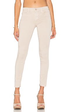 J Brand Mid Rise Zip Crop in Ashwood