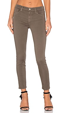 J Brand Mid Rise Capri in Trooper