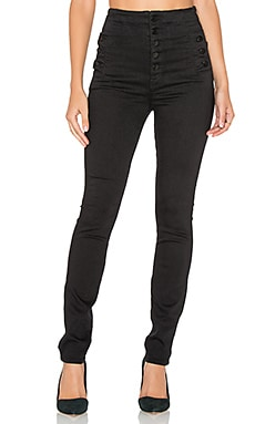 J Brand Natasha Sky Super High Skinny in Seriously Black