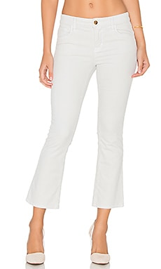 J Brand Selena Mid Rise Crop Flare in Moonbeam