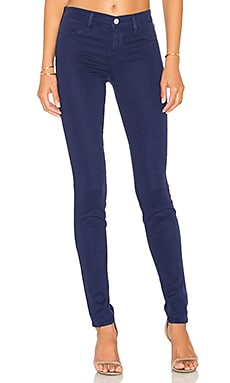 J Brand Mid Rise Super Skinny in Eclipse