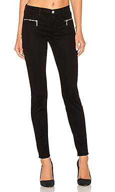 J Brand Miranda Zip Skinny in Black