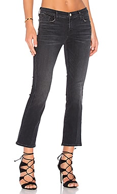 J Brand Selena Crop Bootcut in Anthracite
