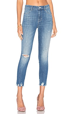 Alana High Rise Crop Skinny in Fantasy Raw