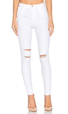 Carolina Super High Rise Skinny in White Mercy
