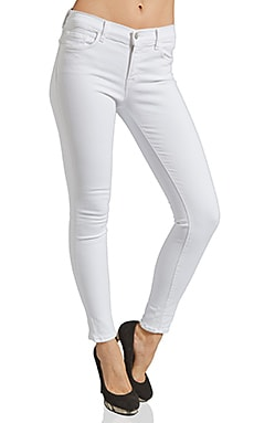 J Brand Power Stretch Skinny in Blanc
