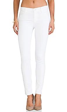 J Brand Midrise Skinny in Blanc