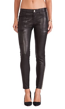J Brand Cassidy Leather Jean in Noir