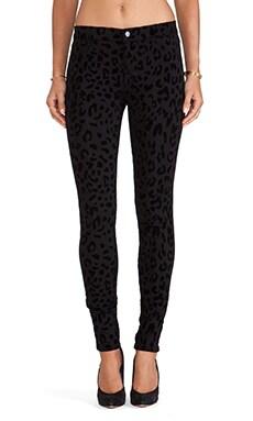 J Brand Leopard Skinny Jean in Black Cat
