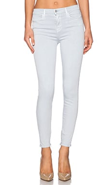 J Brand High Rise Ankle Zip in Oyster