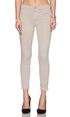 J Brand Anja Cuffed Crop in Concrete Dust