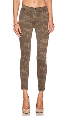 J Brand Mid Rise Crop Skinny in Olive Drab Camo