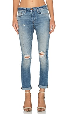 J Brand Georgia Slim Boyfriend in Whiplash