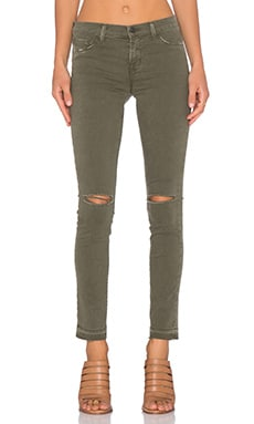 J Brand Mid Rise Skinny in Jungle