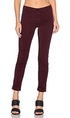 J Brand Anja Ankle Crop in Deep Mulberry