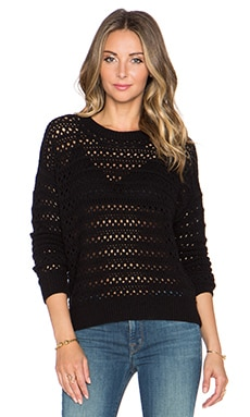 J Brand Flower Sweater in Black