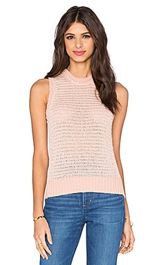 J Brand Garey Sweater Tank in Rose Cloud & Cloud Cream