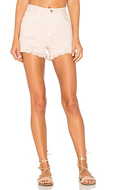 x Revolve High Rise Cut Off Short in Coquette