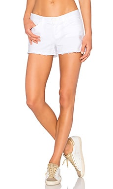 Low Rise Cut Off Short in Vixen White