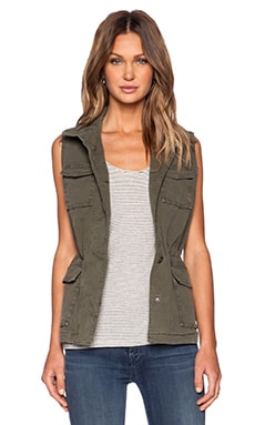 J Brand Arden Military Vest in Jungle