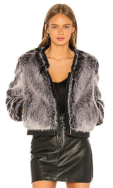 Ashbey Faux Fur Jacket J Brand $257